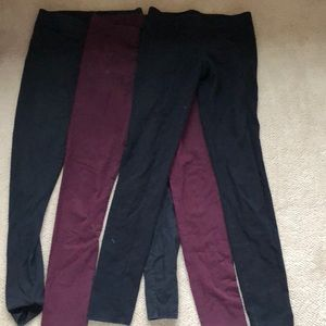 Aerie leggings maroon and black size sm